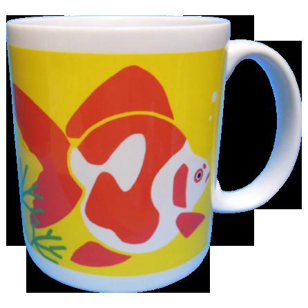 金魚マグカップ3