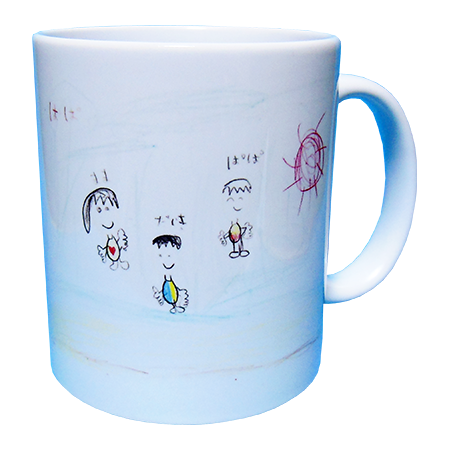 親子3人のマグカップ
